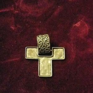Silpada sterling cross pendant